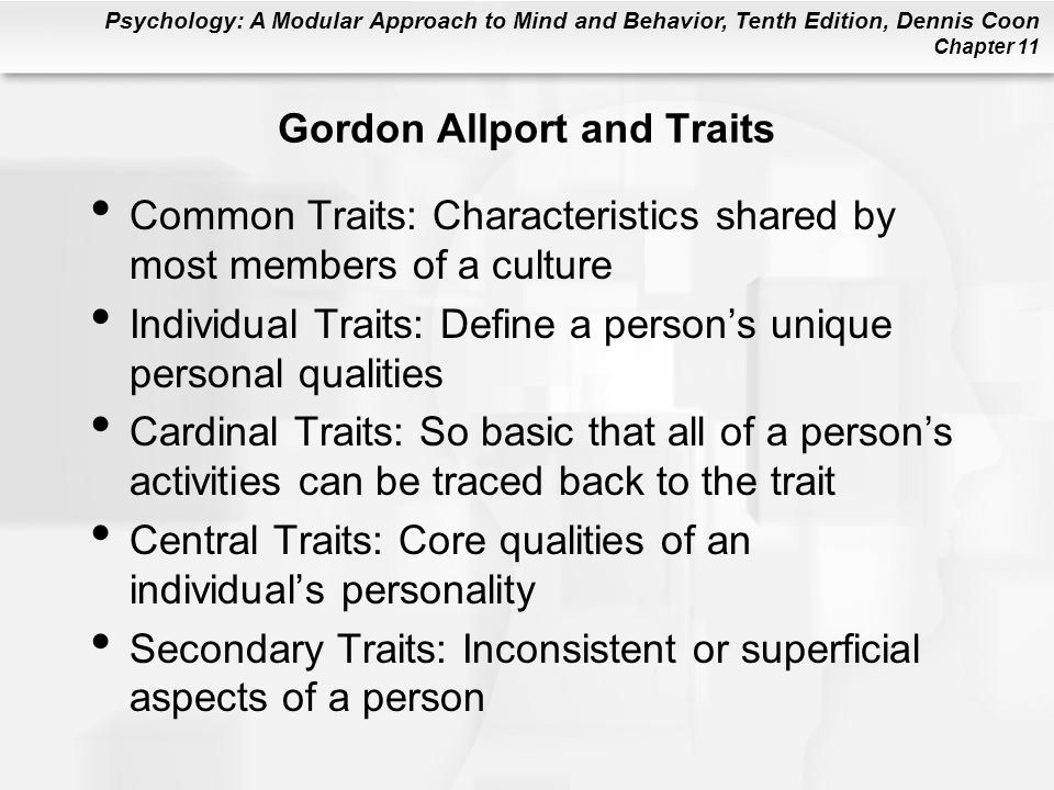 Gordon Allport and Traits