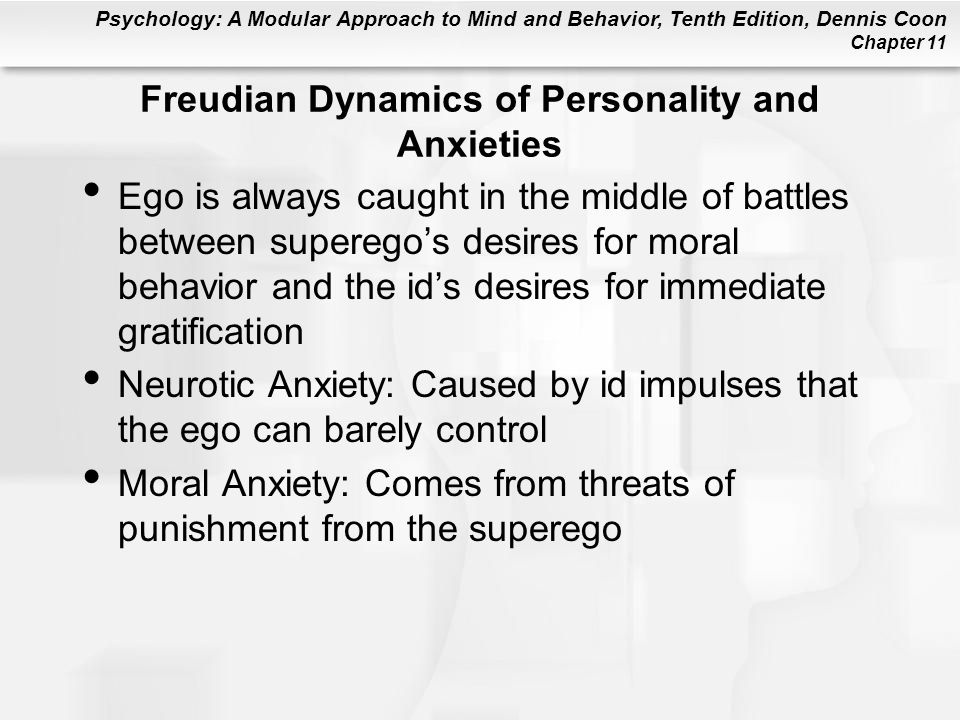 Freudian Dynamics of Personality and Anxieties