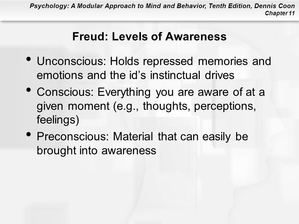 Freud: Levels of Awareness