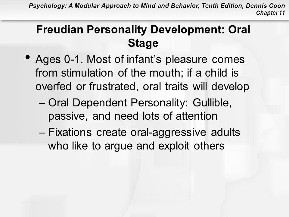 Freudian Personality Development: Oral Stage