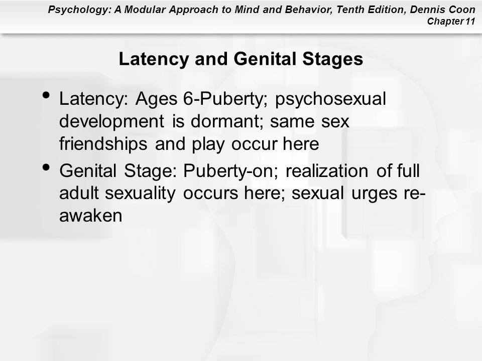 Latency and Genital Stages