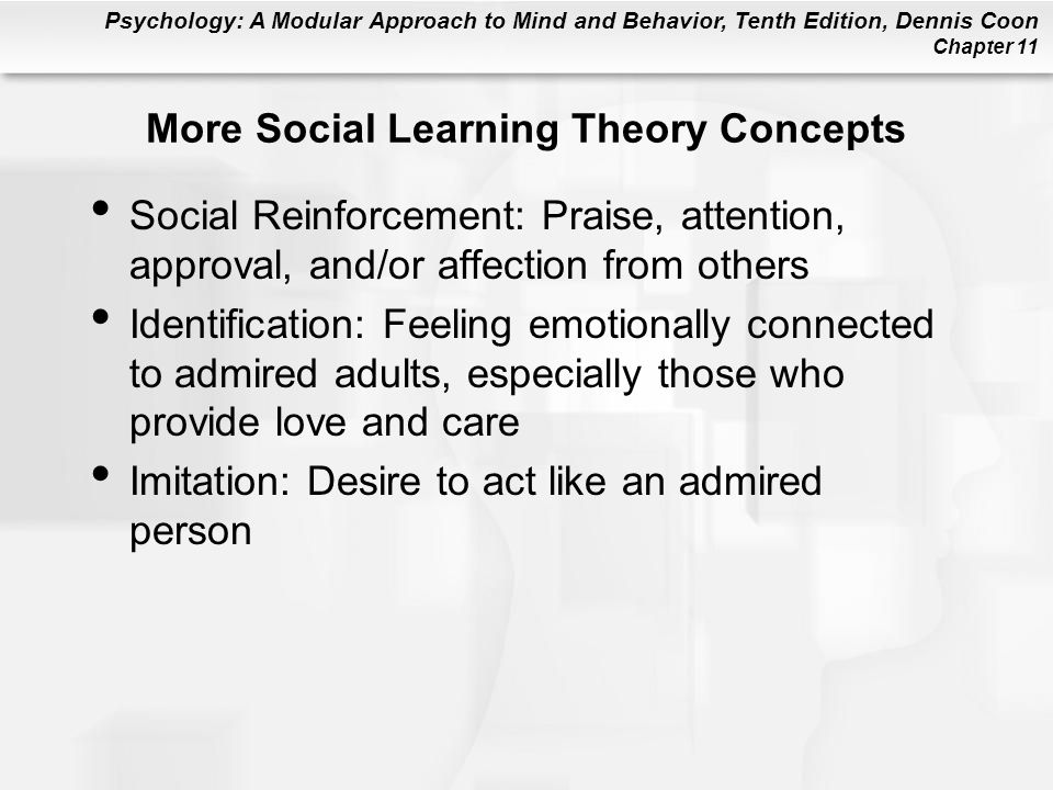 More Social Learning Theory Concepts