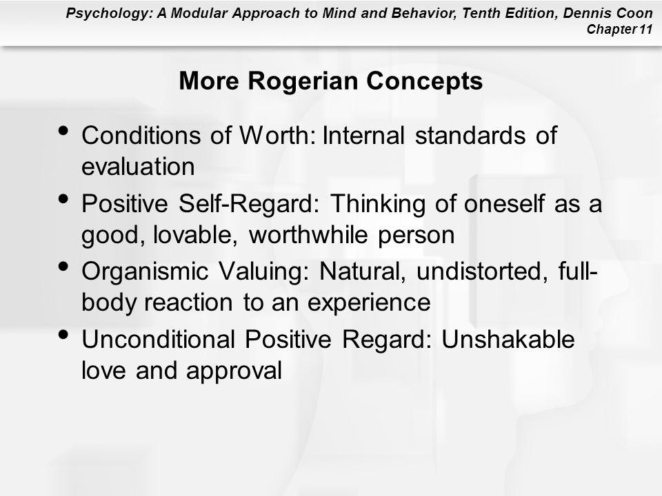 More Rogerian Concepts
