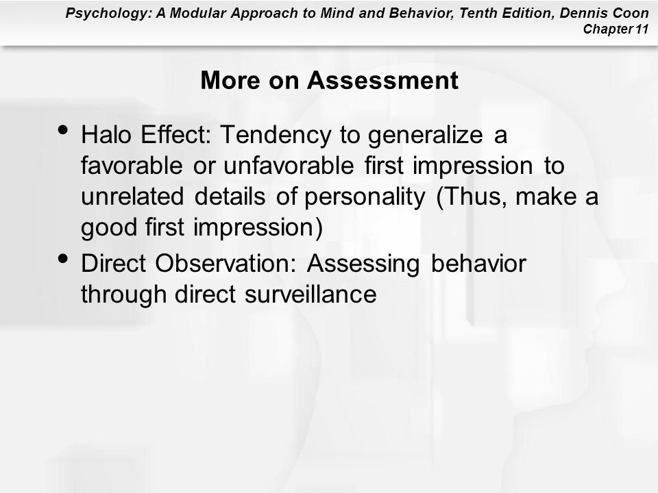 More on Assessment