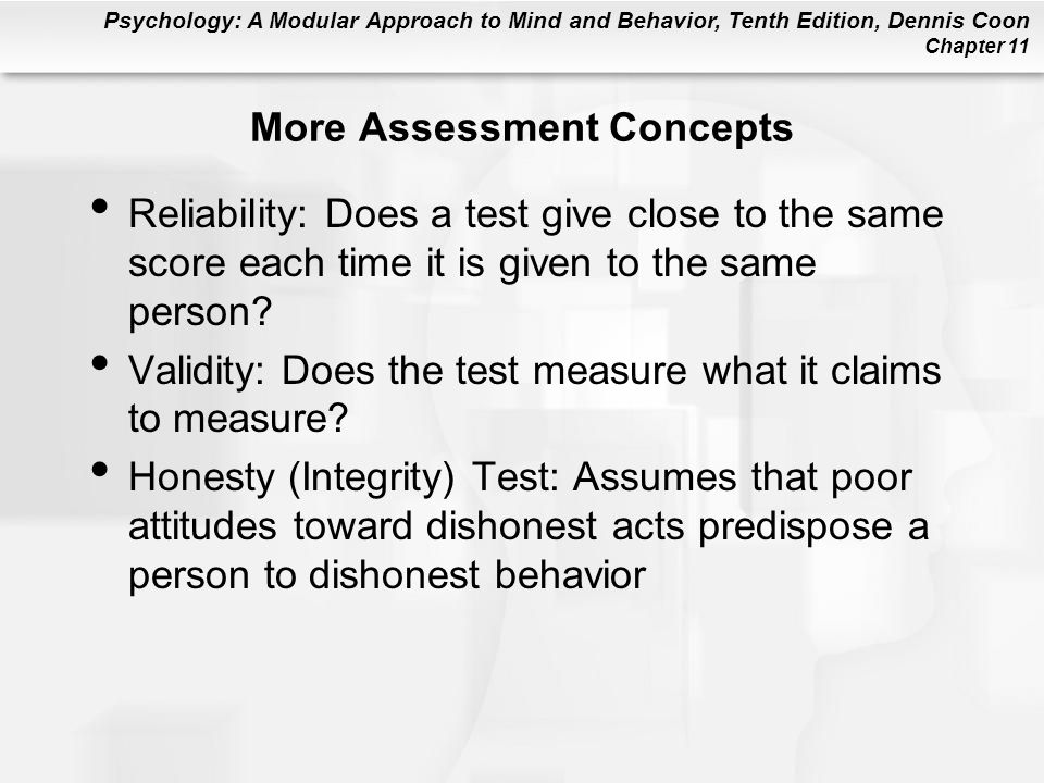 More Assessment Concepts