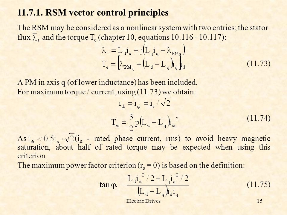 11.7.1. RSM vector control principles