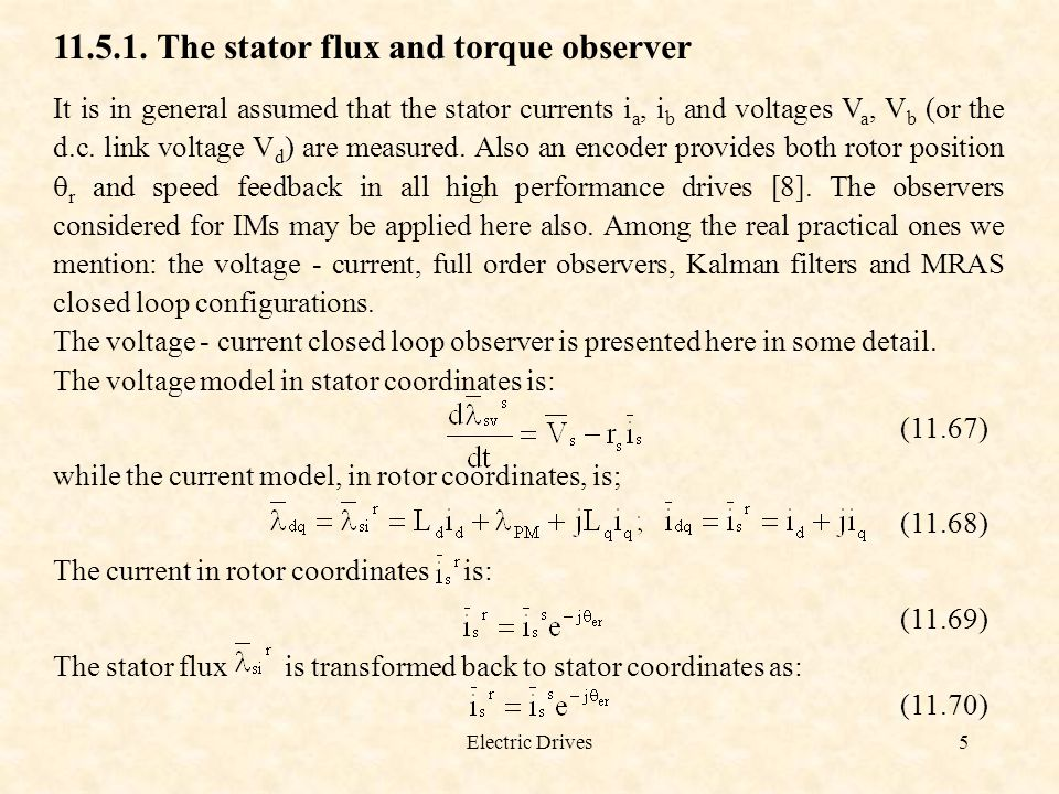 11.5.1. The stator flux and torque observer