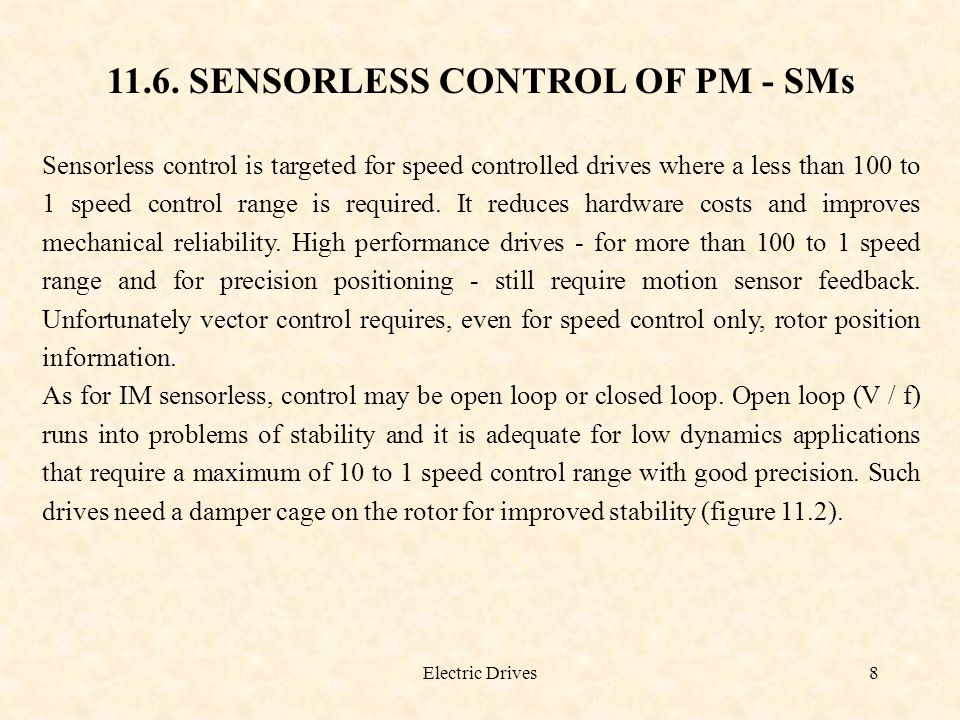 11.6. SENSORLESS CONTROL OF PM - SMs