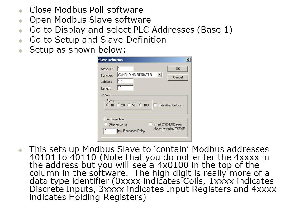 Close Modbus Poll software
