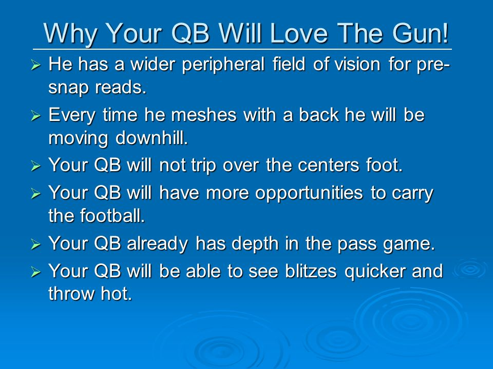 Why Your QB Will Love The Gun!