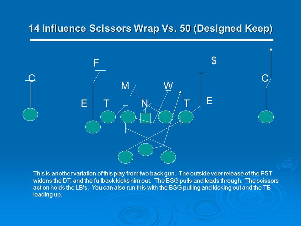 14 Influence Scissors Wrap Vs. 50 (Designed Keep)