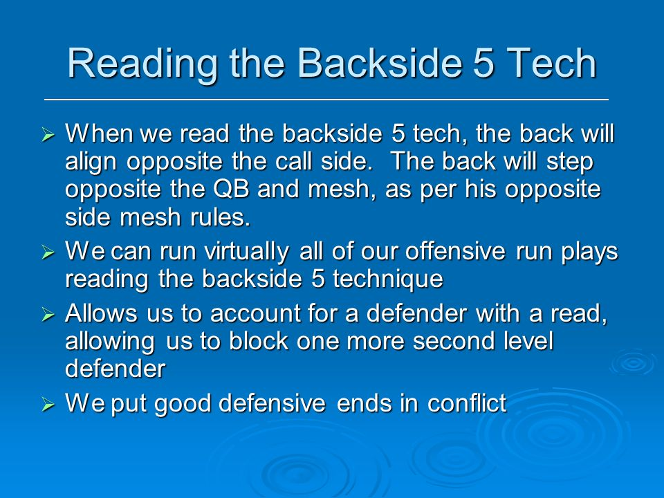 Reading the Backside 5 Tech