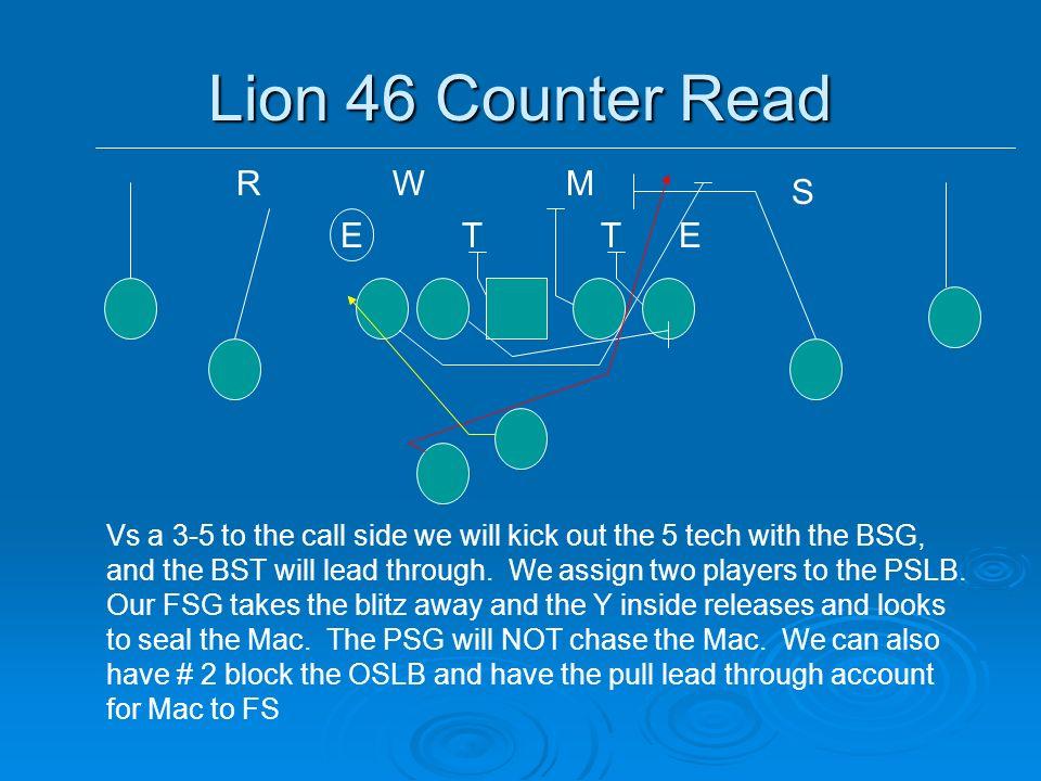 Lion 46 Counter Read R W M S E T T E
