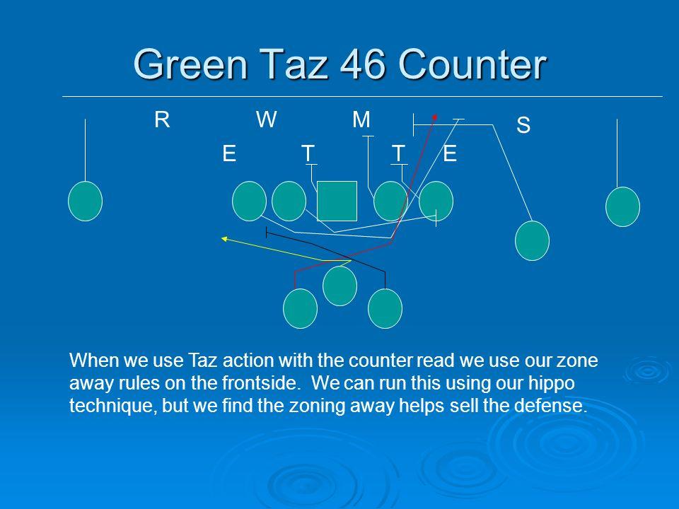 Green Taz 46 Counter R W M S E T T E