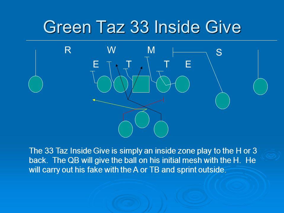 Green Taz 33 Inside Give R W M S E T T E