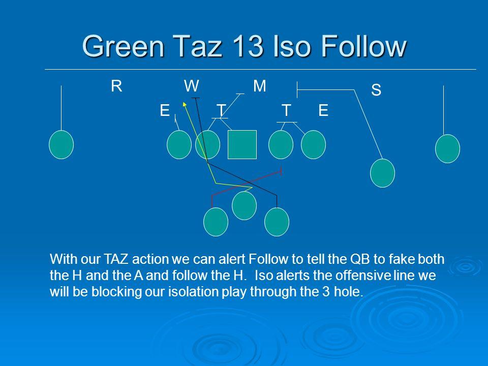 Green Taz 13 Iso Follow R W M S E T T E