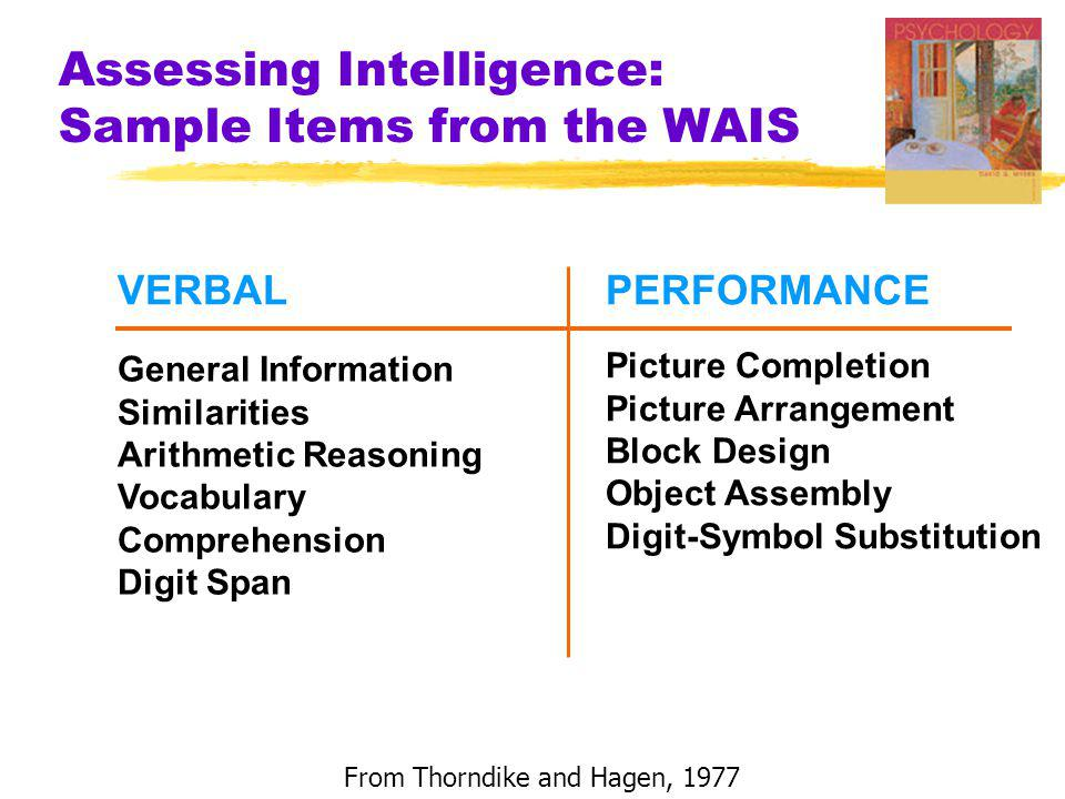 Assessing Intelligence: Sample Items from the WAIS