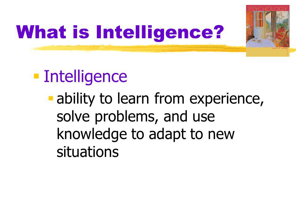 What is Intelligence Intelligence