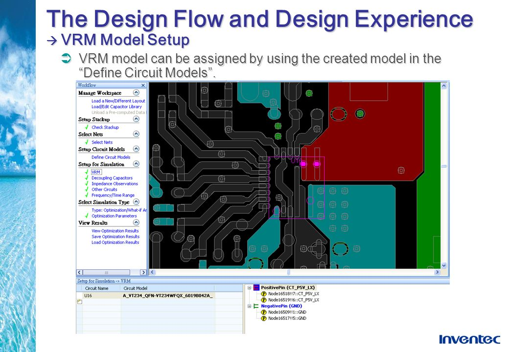 The Design Flow and Design Experience  VRM Model Setup