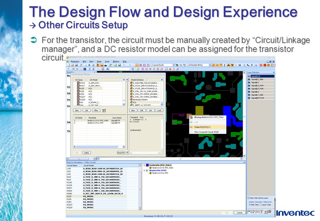 The Design Flow and Design Experience  Other Circuits Setup