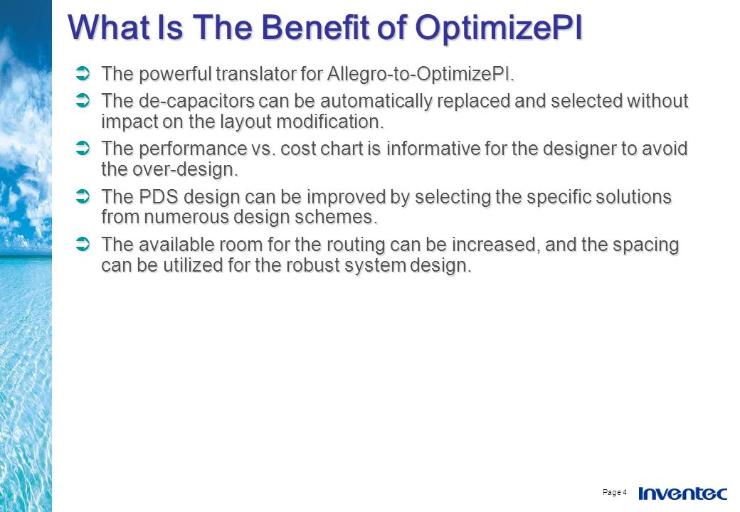 What Is The Benefit of OptimizePI