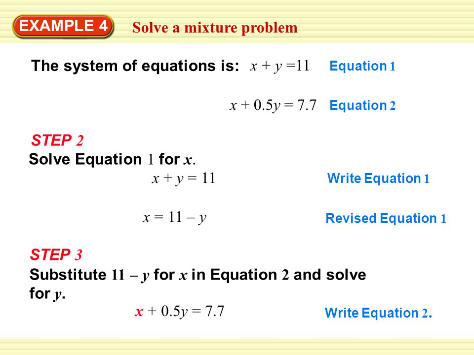 Solve a mixture problem