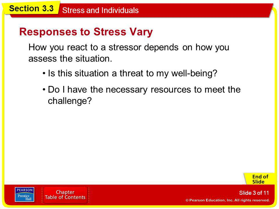 Responses to Stress Vary