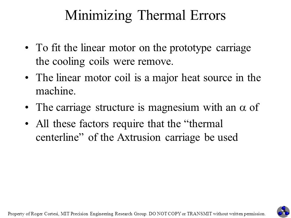 Minimizing Thermal Errors