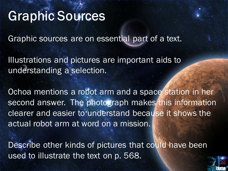 Graphic Sources Graphic sources are on essential part of a text.