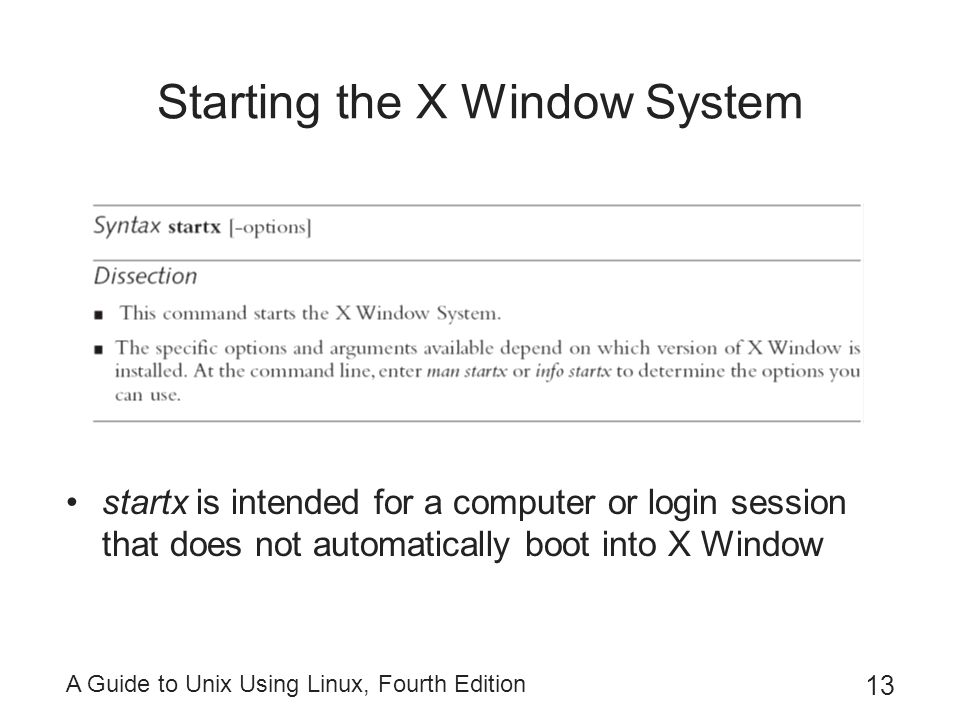 Starting the X Window System