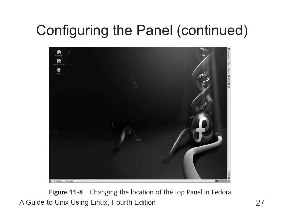 Configuring the Panel (continued)