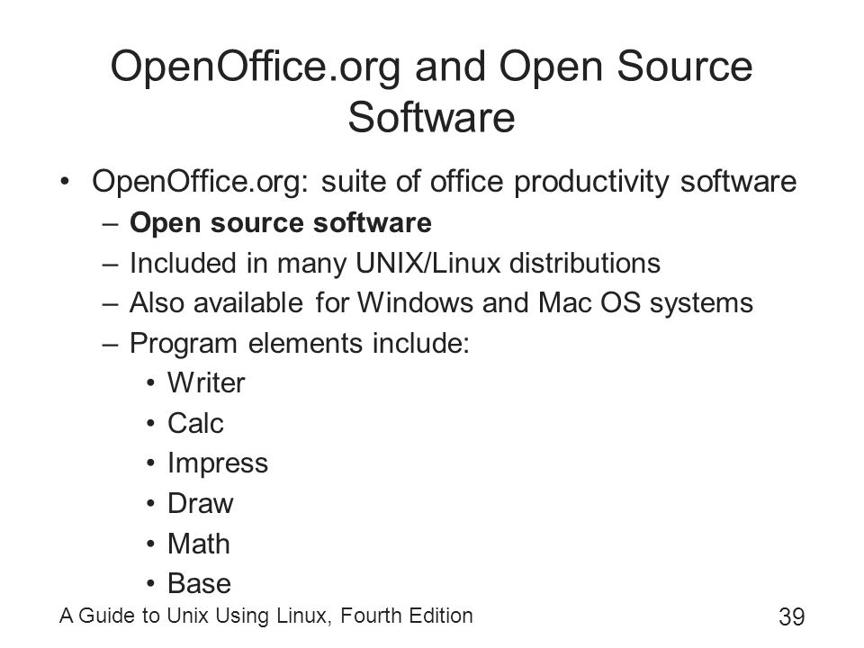 OpenOffice.org and Open Source Software