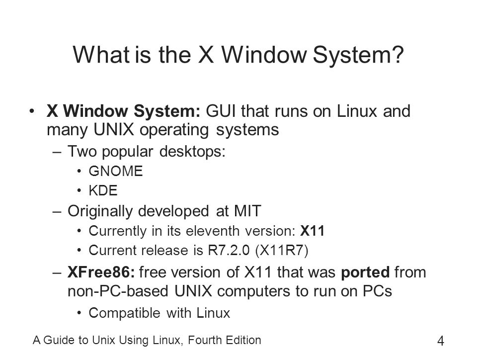 What is the X Window System