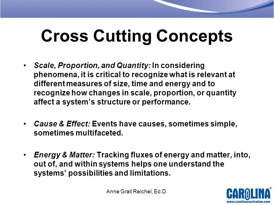 Cross Cutting Concepts