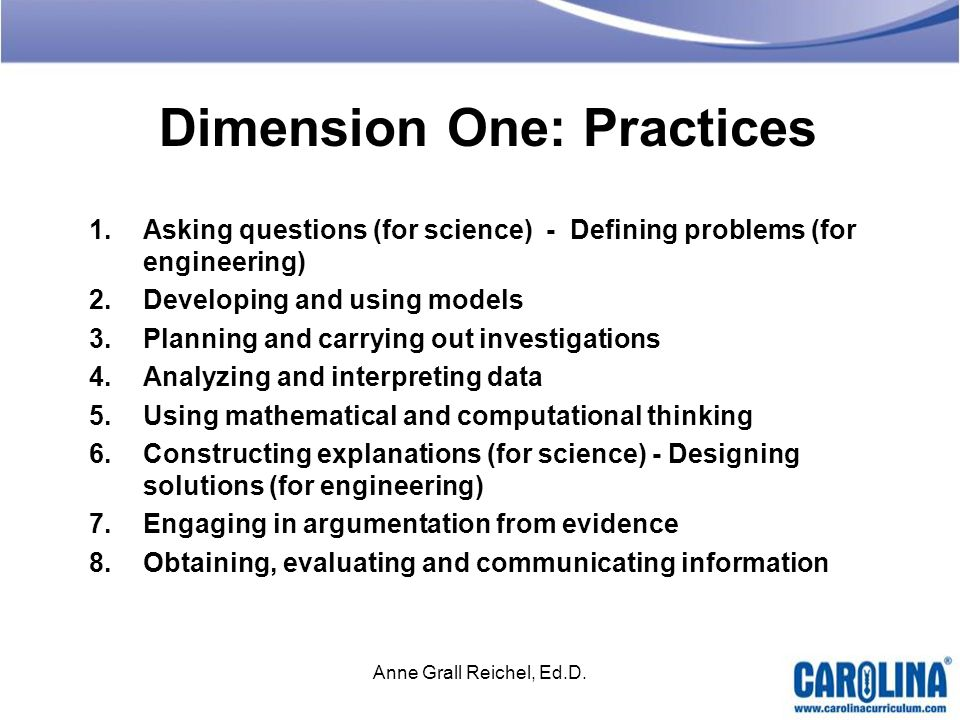 Dimension One: Practices