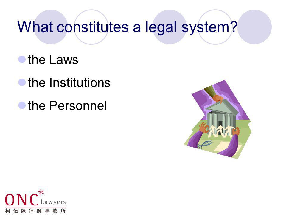 What constitutes a legal system