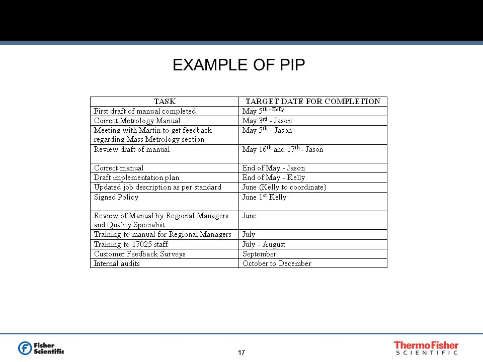 EXAMPLE OF PIP