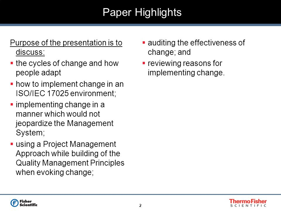Paper Highlights Purpose of the presentation is to discuss:
