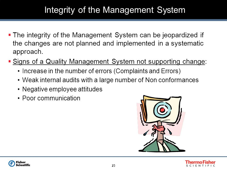 Integrity of the Management System