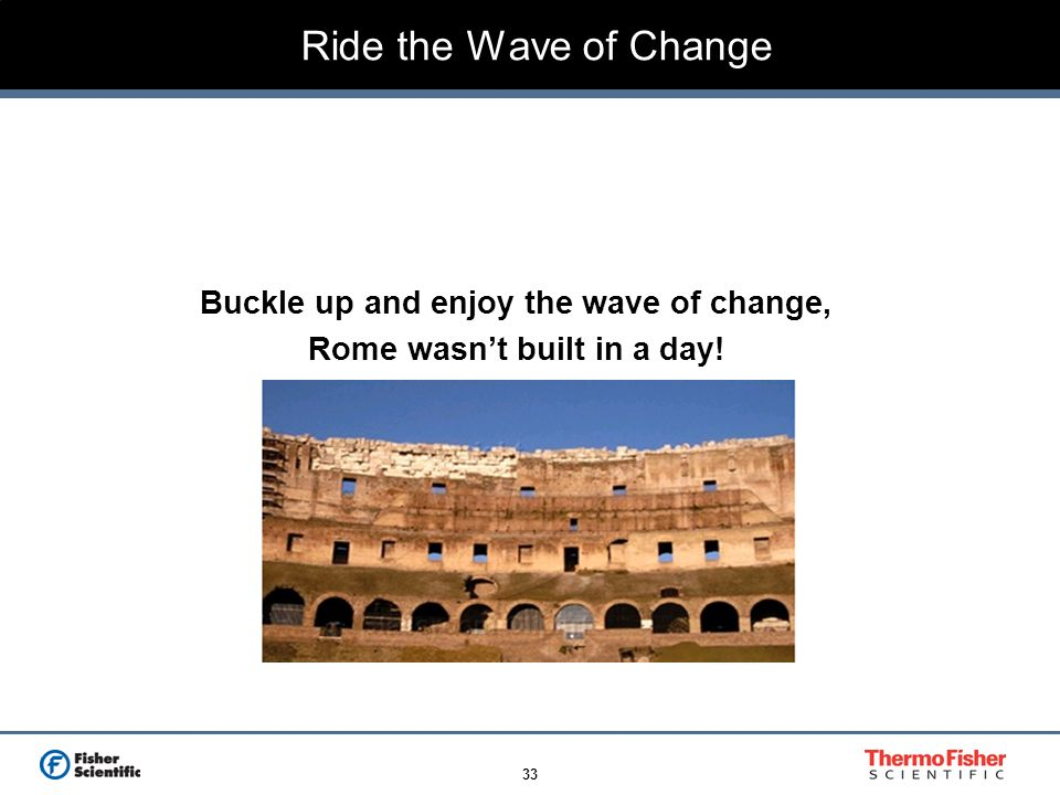 Buckle up and enjoy the wave of change, Rome wasn't built in a day!