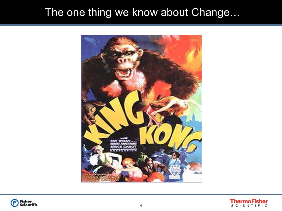The one thing we know about Change…