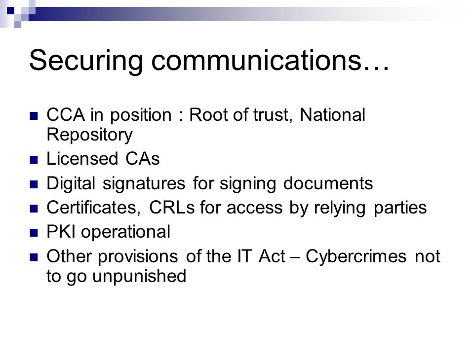 Securing communications…