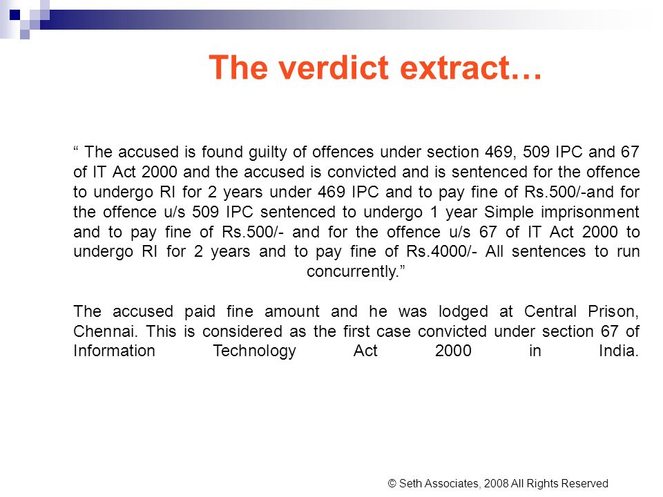 The verdict extract…