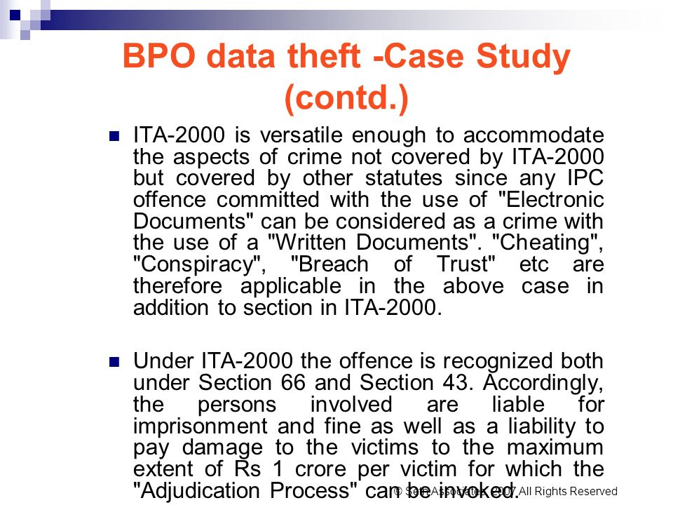 BPO data theft -Case Study (contd.)