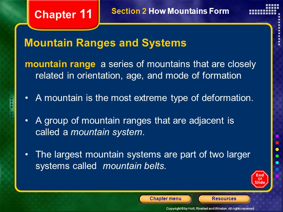 Mountain Ranges and Systems