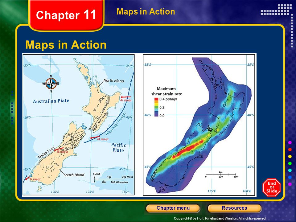 Chapter 11 Maps in Action Maps in Action Shear Strain in New Zealand