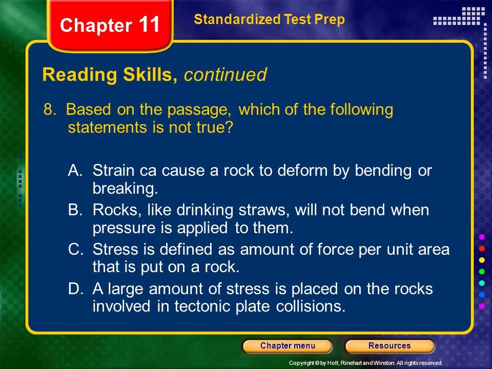 Reading Skills, continued