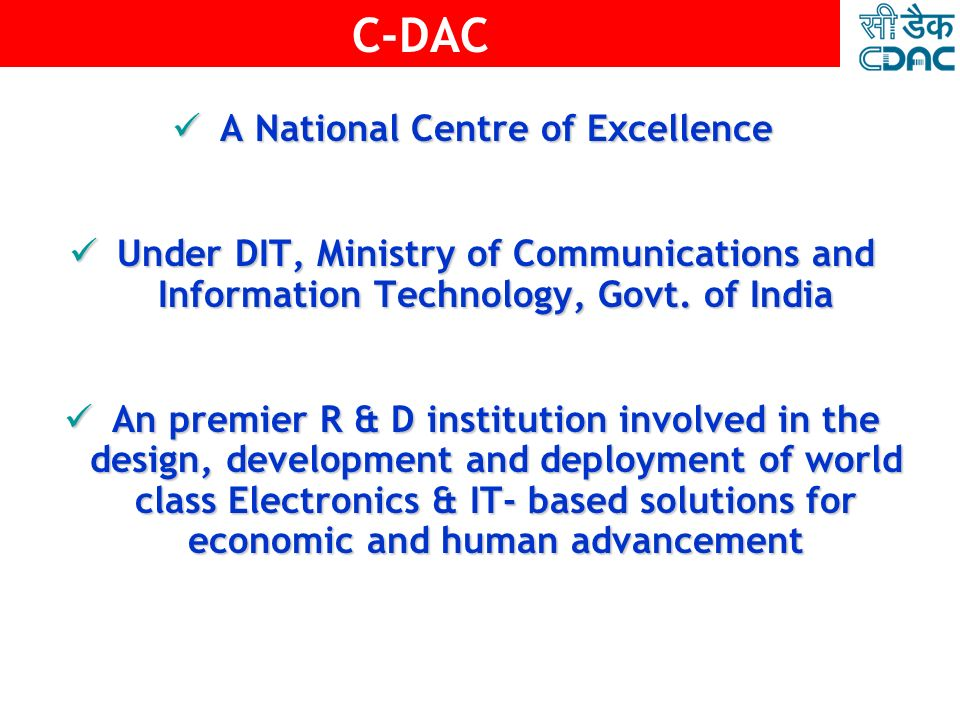 A National Centre of Excellence