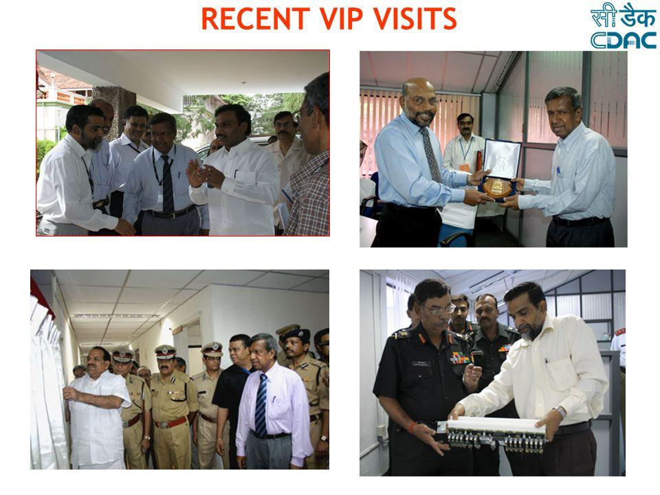 RECENT VIP VISITS