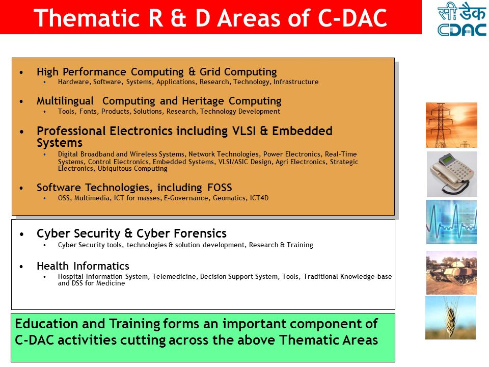 Thematic R & D Areas of C-DAC